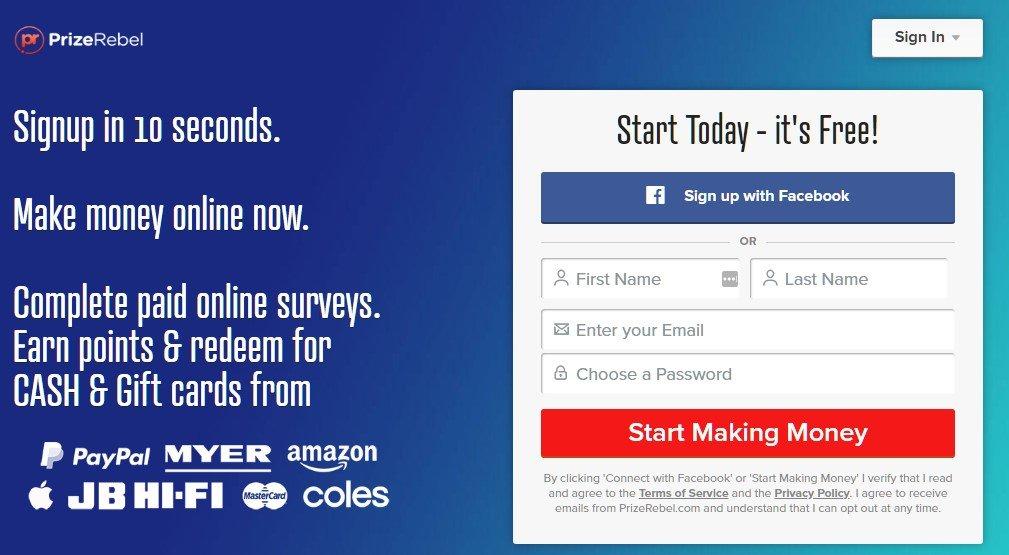 make money online now with prizerebel